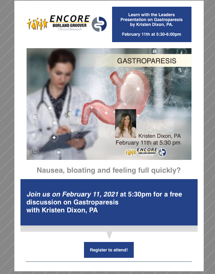 Gastroparesis Learn with the leader flyer